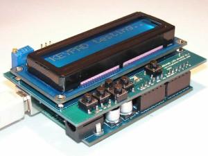 Arduino z shieldem LCD