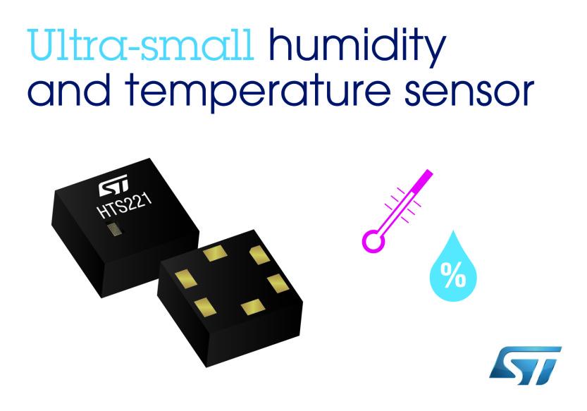 Czujnik temperatury i wilgotności powietrza HTS221