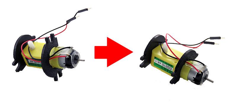 RedBot Basic Kit - zakładanie mocowań silnika