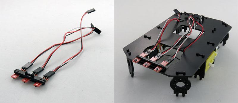 RedBot Basic Kit - montaż czujników odbiciowych