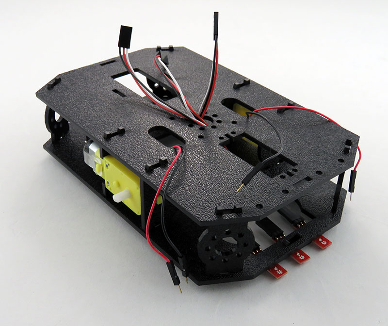 RedBot Basic Kit - montaż płyty górnej